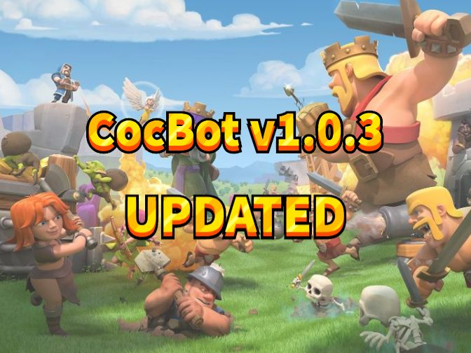 CocBot is updated to v1.0.3 to compatible with town hall 9 and10