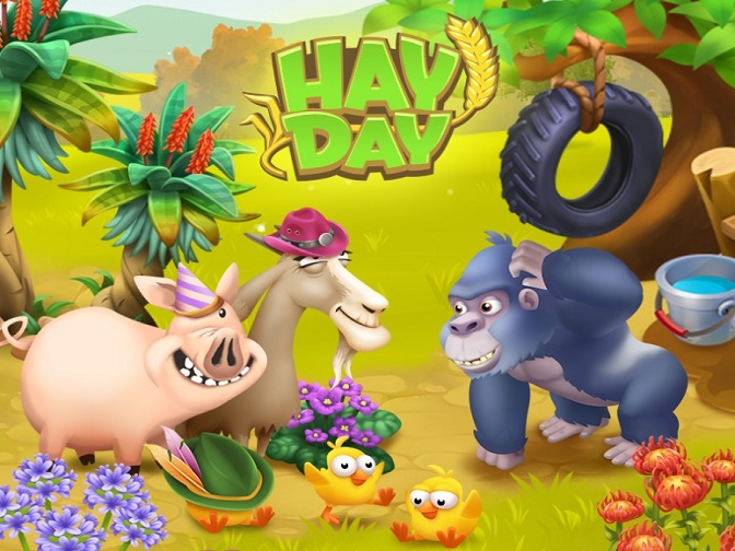 Hay Day New Update Adds Farm Pass, Baby Chicks, Gorillas and Accessories for Animals