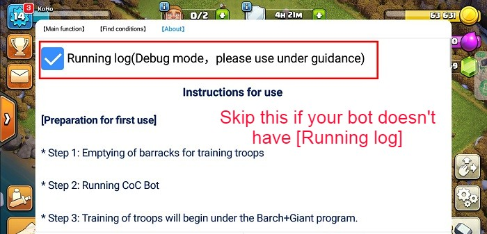 Tick Debug Mode of COC Bot (Don't do it if your bot doesn't have this mod).jpg